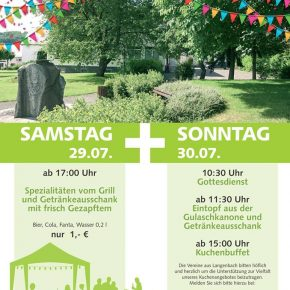 Herzliche Einladung zum Gottesdienst am Dorfgemeinschaftshaus in Langenbach
