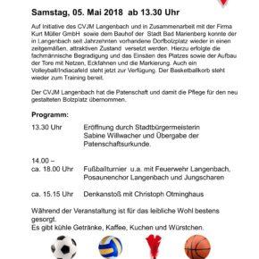 Eröffnung Bolzplatz Langenbach