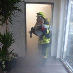 Feuerwehreinsatz im Gemeindehaus