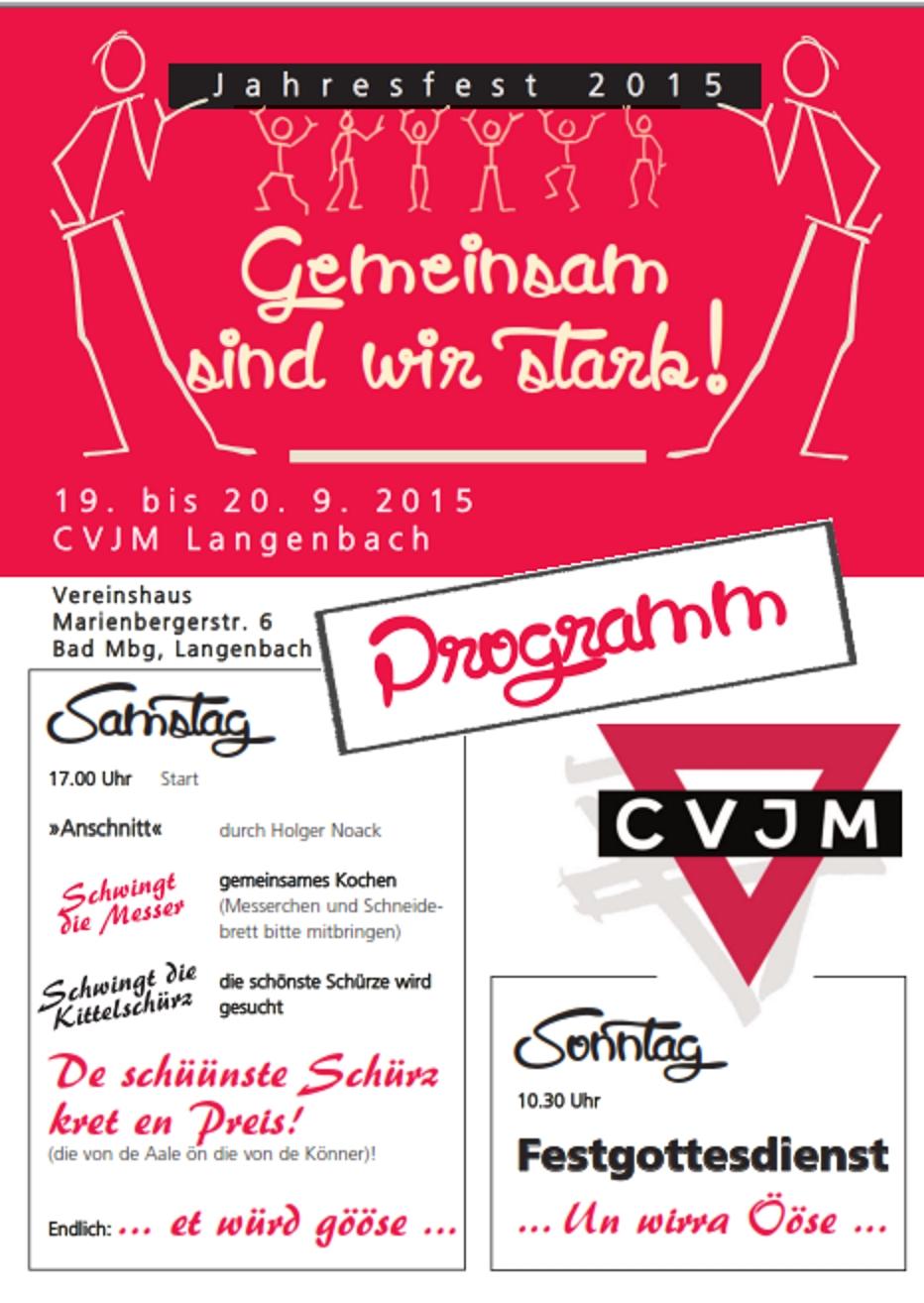 Flyer CVJM Jahresfest 2015