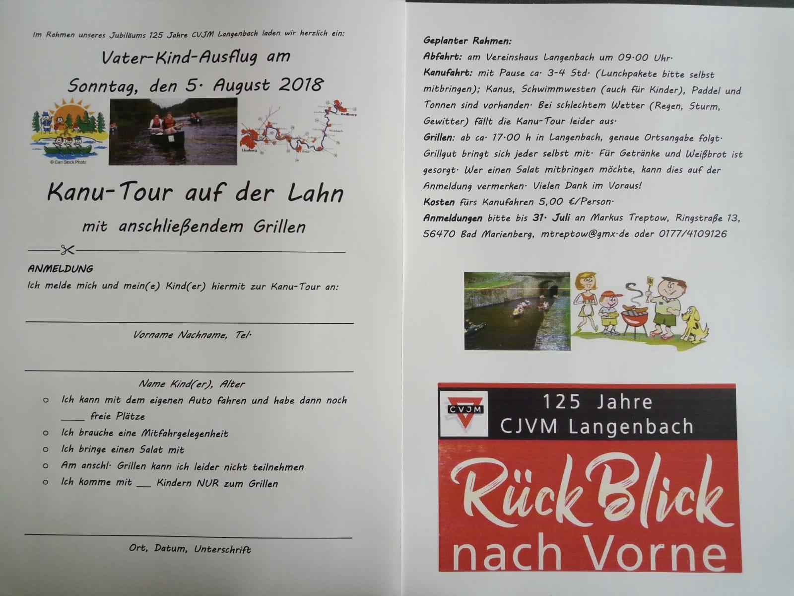 Herzliche Einladung zum Vater-Kind-Tag | CVJM und EG Langenbach